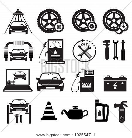Set-of-icons-service-car-repair-isolated