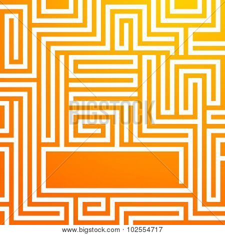 Yellow-sunny-background-glowing-maze-summer
