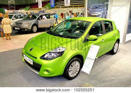 UFA RUSSIA - MAY 12: French motor car Renault Clio on display at the annual Motor show