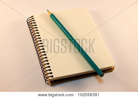 Nice Spiral Notebook With Pencil