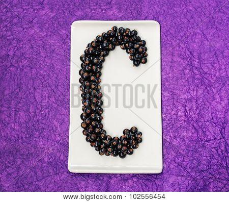 Blackcurrant Letter C