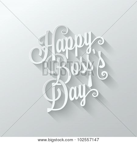 boss day vintage lettering cut paper background