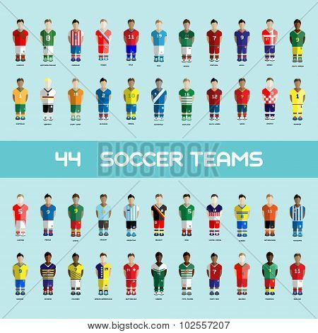 Soccer Club Team Players Big Set
