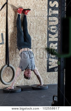 Handstand During Crossfit Training