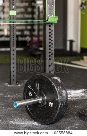 Barbell Covered With Talc