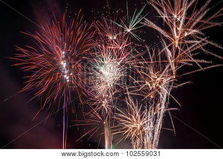 Fireworks. Color image