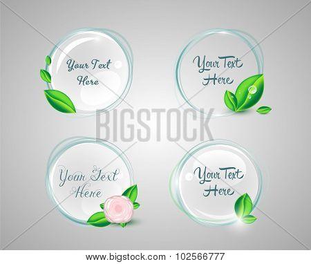 Circular organic tags