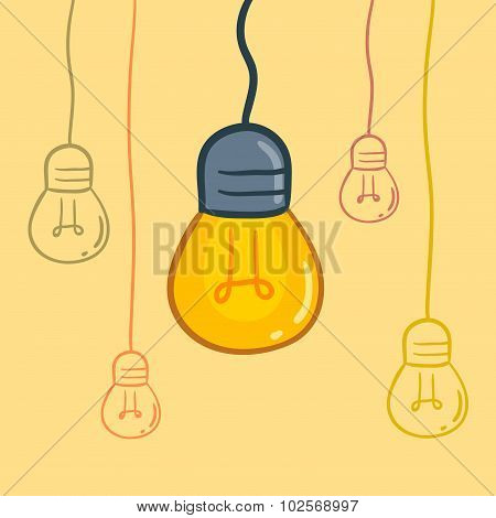 Light Bulbs Hanging From Above