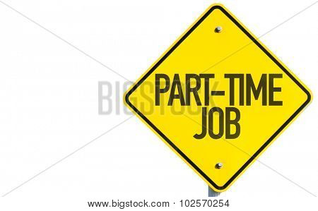 Part-Time Job sign isolated on white background