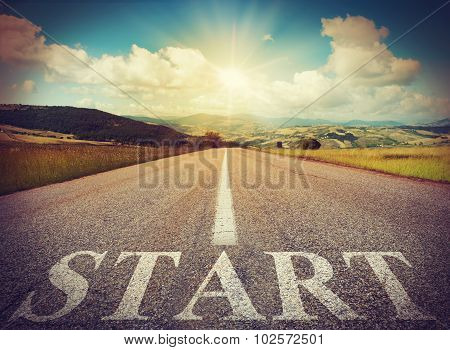 Start road