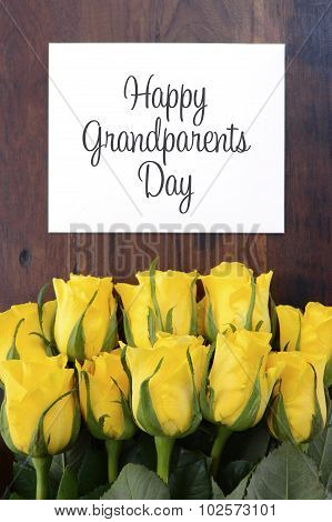 Yellow Roses Gift For Grandparents Day.