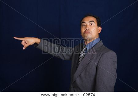 Business Suit Man Pointing