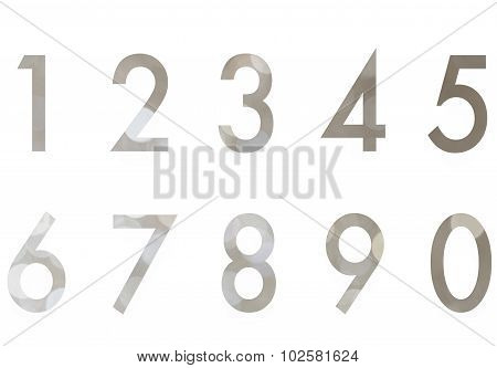 Set of Bokeh background design number 1 to 0 isolated on white background