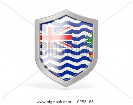 Shield Icon With Flag Of British Indian Ocean Territory