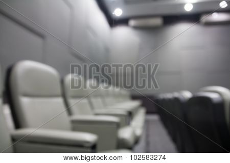 Seats In Conference Room, Blurred