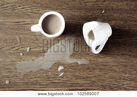two cups of coffee on the table