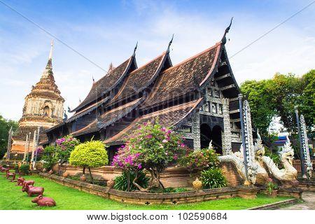 Beautiful Temple In Thailand (wat Lok Mo Lee) Chiangmai Thailand