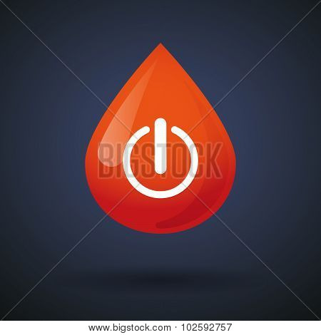 Blood Drop Icon With An Off Button