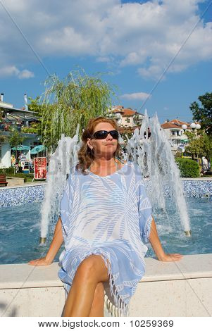 Angel. The Young Woman At A Fountain
