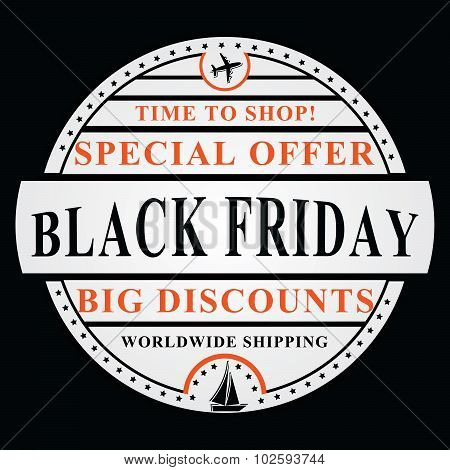 Black Friday vector Image, also for print.