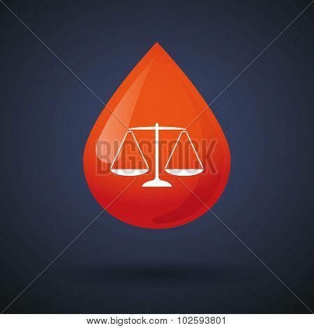 Blood Drop Icon With A Justice Weight Scale Sign