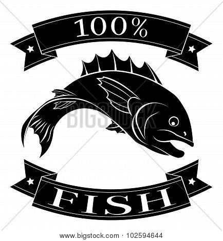 100 Percent Fish Food Label