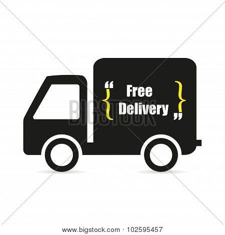 Icon Machine free delivery logo flat style