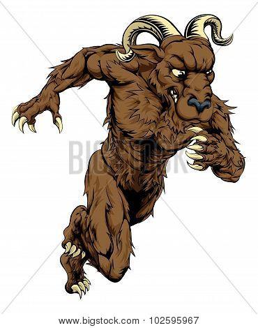Ram Sports Mascot Running