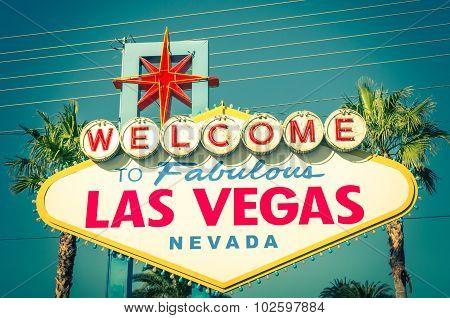 Las Vegas Welcome Sign - Vintage Filter