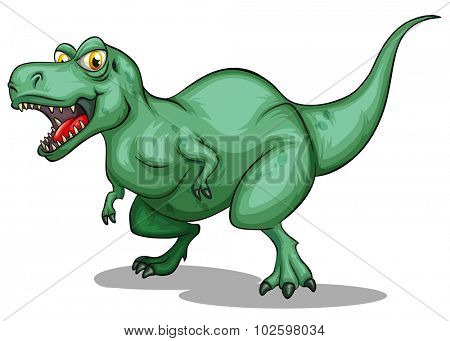 T-Rex with sharp teeth illustration