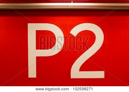 P2 Huge Sign Painted On The Red Wall