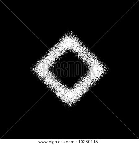 White Abstract Rhombic Badge