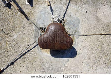 Rusty Iron Ship Bollard
