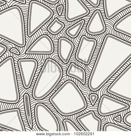 Seamless pattern of hand-drawn lines similar to crack