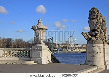 Sculptures On Quai D'orsay, Paris, France