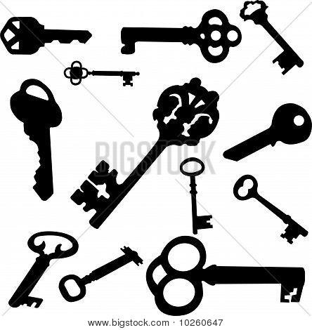 keys set - vector