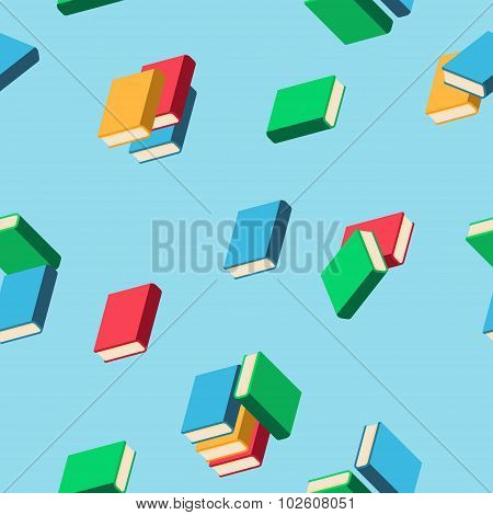 Background With Stacks Of Multi Colored Books
