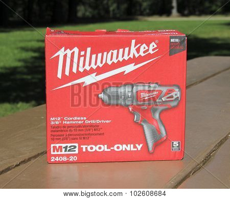 Milwaukee Cordless Hammer Drill In The Box