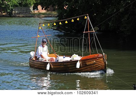 Man in boat, Henley-on-Thames.