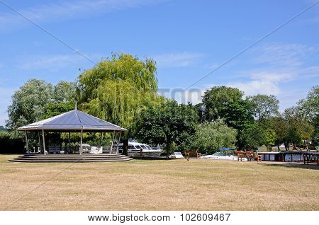 Bandstand alongside river, Henley on Thames.