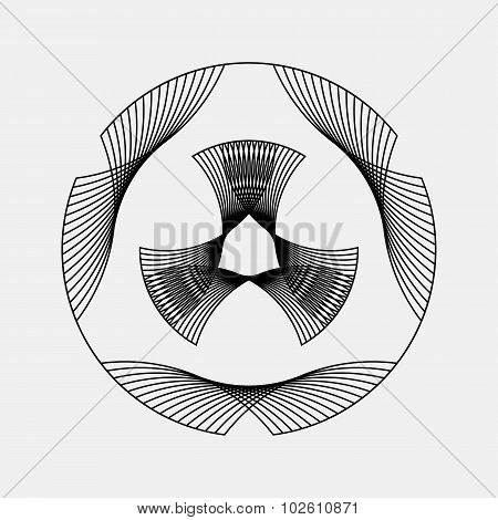 Black Abstract Fractal Shape