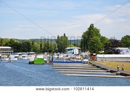 Regatta moorings, Henley on Thames.