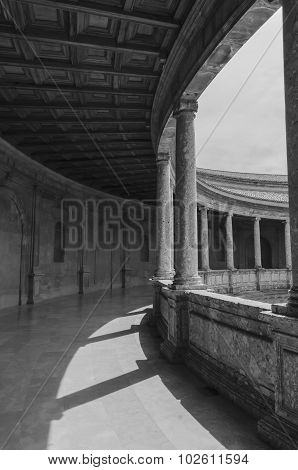 Columns In The Courtyard