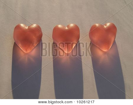 Heart candy with shadow