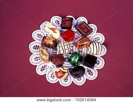 Belgian chocolates.