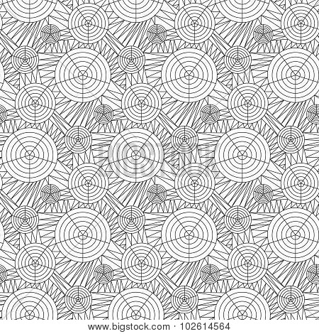 seamless background of doodle drawn lines