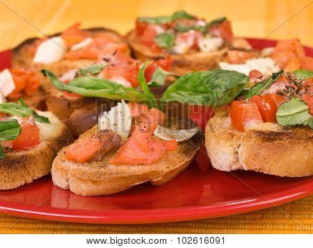 Bruschetta With Smoked Salmon