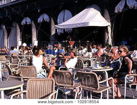 Pavement cafe, Venice.