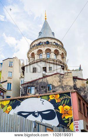 Panda Graffiti Under Galata Tower