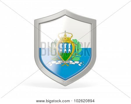 Shield Icon With Flag Of San Marino